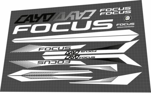 Decal Set FOCUS Cayo 2017 Frame Sticker