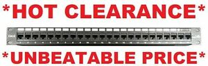 Universal-19-034-24-Ports-Network-Data-Rack-Patch-Panel-Rack-Cat6-Cat5e-1RU-RJ45