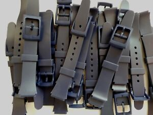 Lot-20-Bracelet-Montre-Watch-Bands-PVC-14-mm-Marine-Boucle-PVC-Neuf