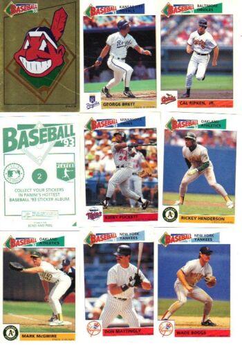 seldom seen NRMT 1993 Panini Baseball Sticker Set 300 Complete set