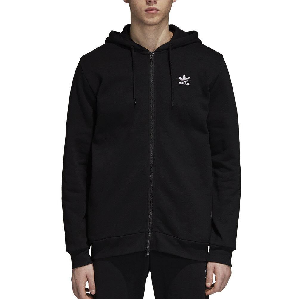 Felpa Adidas Originals Fleece Trefoil Hoodie Nera Uomo Codice DN6016 - 9M