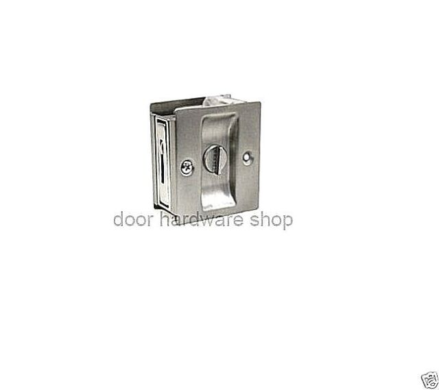 Satin Chrome Privacy Lock Pocket Door Pull Byp Sliding Deltana Sdl25 26d