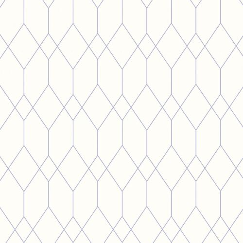 WHITE TEAL PURPLE COPPER AS CREATION ESPRIT GEOMETRIC DIAMOND WALLPAPER