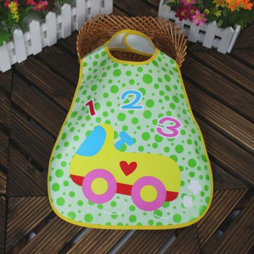 Infant Baby Boy Girl Lovely Letter Waterproof Feeding Art Apron Bib Smock