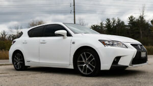 2015 Lexus CT 200h FWD 4dr Hybrid in Pearl White Red Leather