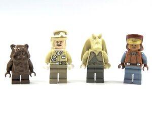Lego-Star-Wars-4-Figuren-Captain-Panaka-Ewok-Wicket-Hoth-Rebel-Trooper-Jar-Jar