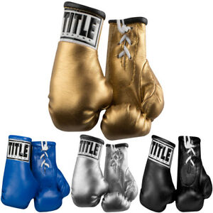 Title-Boxing-5-034-Authentic-Detailed-Mini-Lace-Up-Gloves