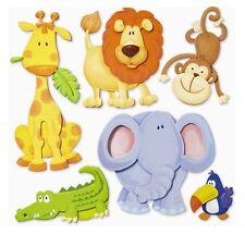 3D Wandsticker Wandtattoo Tiere Afrikas Löwe,Elefant,Affe,Giraffe Kinderzimmer