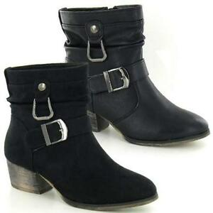 Ladies-Chelsea-Boots-New-Womens-Cowboy-Ankle-Biker-Riding-Smart-Heels-Shoes-Size