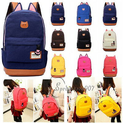 Casual Cartoon Women Bags Backpack Girl School Shoulder Rucksack Canvas Bags