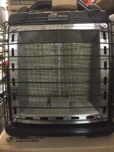 THE BOSS PORTABLE PROPANE INFRARED HEATER SRCH51101 20,000 BTU W// 4.5LB CYLINDER