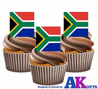 South African Flag Edible Wafer Paper Cupcake Cup Cake Topper Image 30