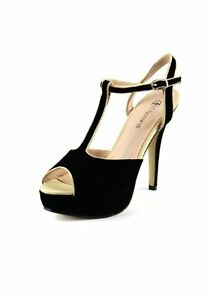LADIES FAUX LEATHER BUCKLE UP COMFORT STRAPPY PEEP TOE SANDALS BLACK UK 3-7