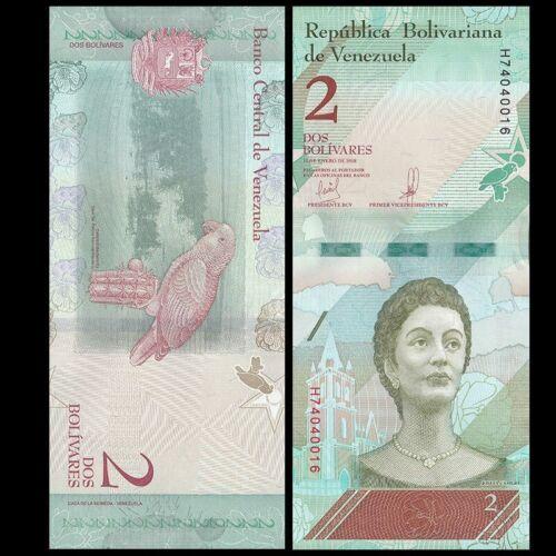 P-NEW NEW ISSUE Venezuela 2 Bolivares UNC Lot 10 PCS 2018