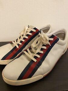 GUCCI-Guccissimo-Men-039-s-Signature-Stripe-Shoes-Sneakers-shoes-Size-12-US
