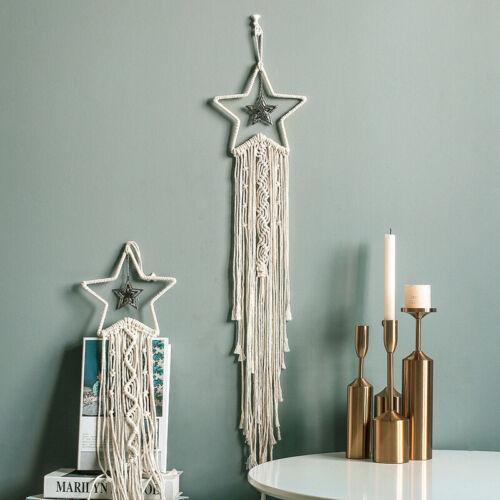 Moon Star Hand-woven Macrame Wall Hanging Bohemian Home Decorations 2020