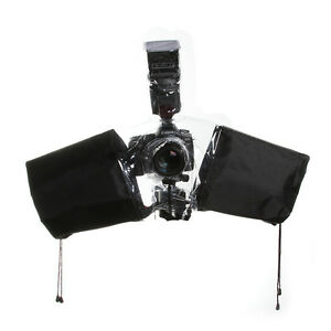 Waterproof-Rain-Cover-Coat-Poncho-Housing-for-DSLR-Sony-Nikon-On-Camera-Flash