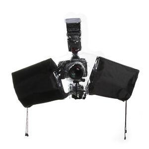 Waterproof-Rain-Cover-Coat-Poncho-Housing-for-DSLR-Sony-Nikon-On-Camera-Flash