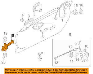 Mitsubishi Oem 06 12 Eclipse Door Check Arm Stop Hinge Strap 5702a133 Ebay
