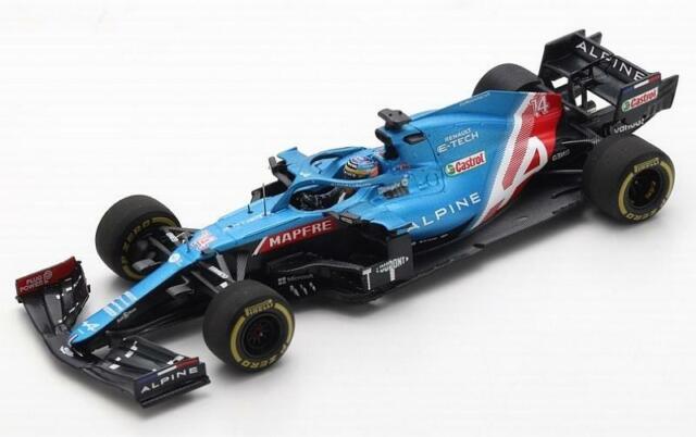 Alpine A521 GP Bahrain 2021 Fernando Alonso 1:43 SPARK S7664