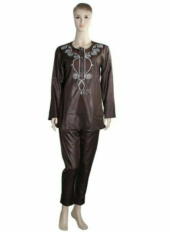 Couple Dress Suits For Women And Men Embroidery Design Shirt Pant Outfit Clothes