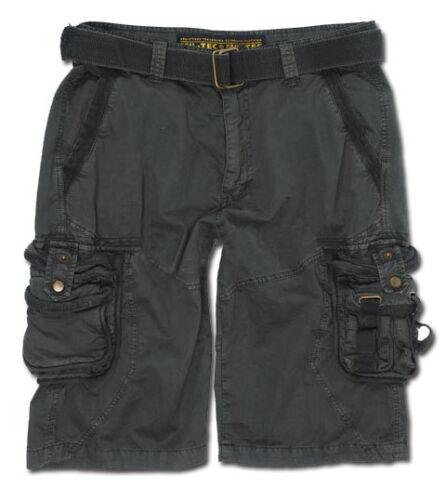 Bermuda Army Outdoor        -NEU Vintage  Survival Shorts prewash schwarz
