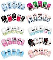 Nail Art Water Transfer Stickers-Decals-Adesivi FRENCH-Ricostruzione Unghie !!!