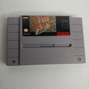 Super Nintendo SNES Sim City Video Game Tested  Works 1991 Retro Gaming EUC