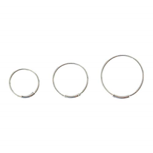 Claire/'s Girl/'s Simple Silver Nose Hoops Pack Of 3 in Silver