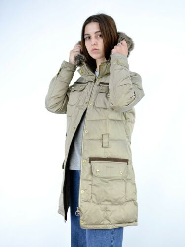 Barbour Artic Parka Puffer Long Jacket Size UK 12