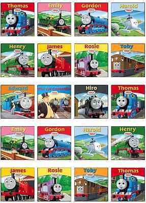 Thomas The Tank Engine Face Edible Cupcake Wafer Paper Toppers x 24