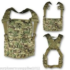 MOLLE CHEST RIG TACTICAL CARRIER BTP CAMOUFLAGE AIRSOFT ARMY CADET MILITARY VEST