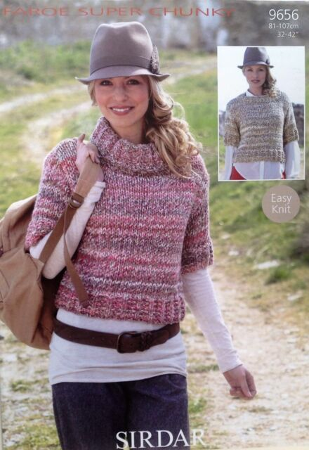 Sirdar Faroe Super Chunky Knitting Pattern For Sweater 9656 Ebay