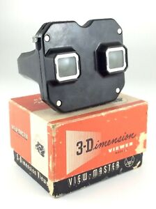 Vintage-View-Master-Model-E-In-Box-3D-Dimensional-Viewer-Sawyers-Viewer-L635