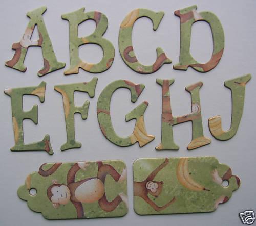 Creative Imaginations *~FUN MONKEY~* Chipboard Letters