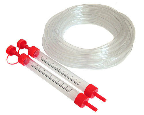 10 METRE WATER LEVEL GAUGE KIT WITH HOSE PIPE DISTANCE SPIRIT LEVEL SIGHT TUBES