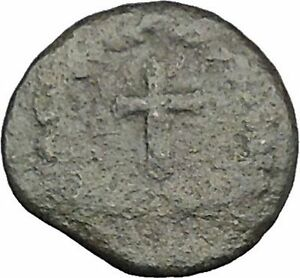 THEODOSIUS-II-425AD-Ancient-Roman-Coin-Cross-within-wreath-of-success-i32881