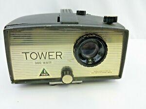 Vintage-Sears-Roebuck-Tower-300-Watt-Manual-Slide-Projector-Model-9800-Working