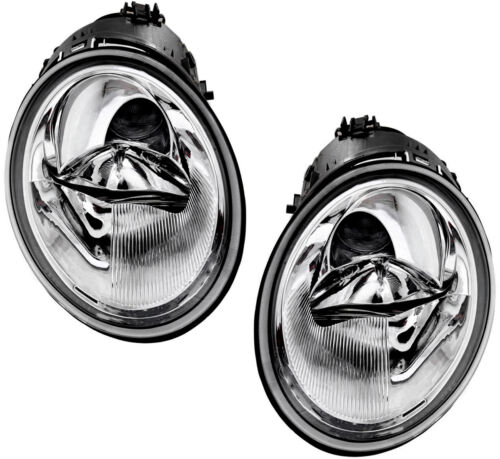 NEW Headlight Headlamp Pair Set Left /& Right for 02-05 VW Beetle Turbo S