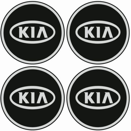 KIA Emblem Felgen Aufkleber Logo Nabendeckel Nabenkappe Radkappe 4x56mm