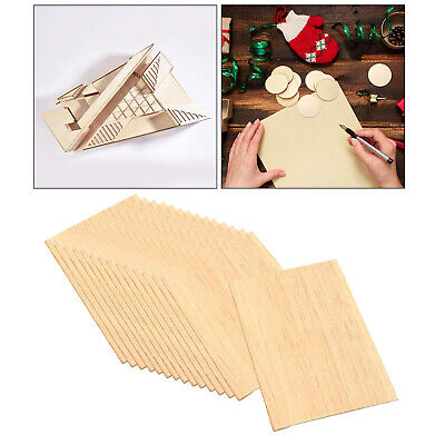 Unfinished Scrapbooking Square Wood Pieces Ornament Blank Plaque Wooden Tags