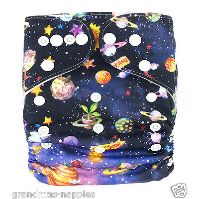 MODERN CLOTH NAPPIES REUSABLE ADJUSTABLE DIAPERS Space