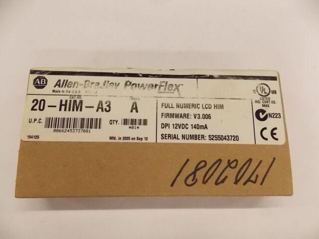 New Allen Bradley Keypad Interface Module 20-HIM-A3 SerA V3.006  G4