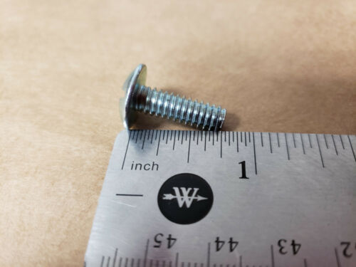 """LOTS OF 100 EXTRA-WIDE STEEL SLOTTED HEAD SCREWS 90271A540 LG-3//4/"""" 1//4/""""-20"""