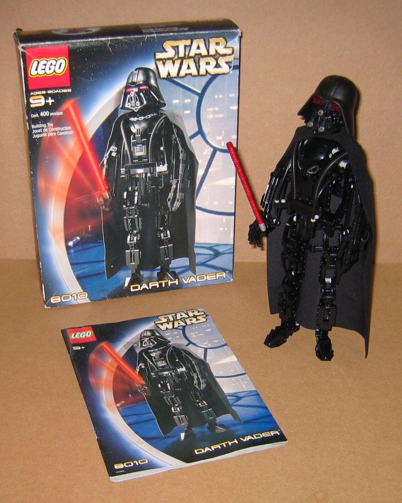 8010 LEGO Star Wars Darth Vader 100% Complete w box & Instructions EX COND 2002