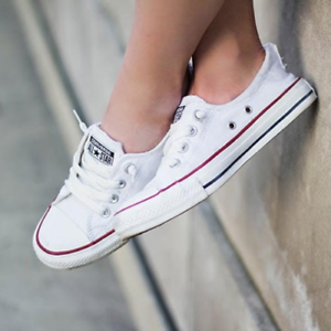 Details about Womens Converse Chuck Taylor All Star Shoreline Slip On | White Trainers Shoes |