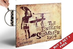 The Endless Summer 1964 Vintage Movie Poster A4 Photo Print Home Wall Art Decor Ebay