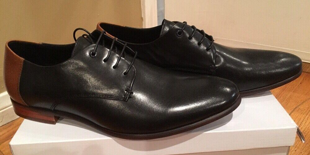 alta qualità STEVE MADDEN RALPH RALPH RALPH nero LEATHER uomo WINGTIP scarpe SZ 9  incentivi promozionali