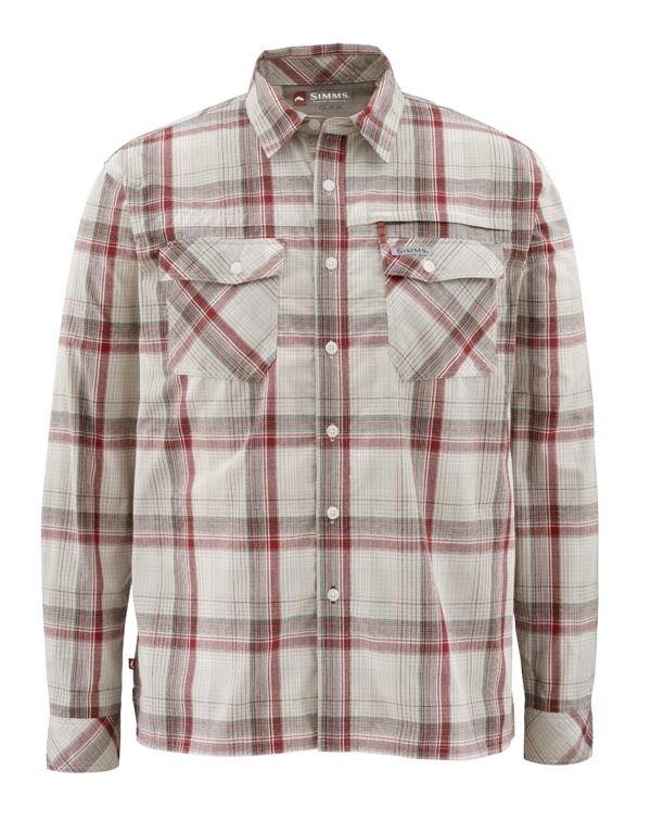 Simms Kenai Chemise à manches longues  Rubis Plaid  Taille XL  Closeout