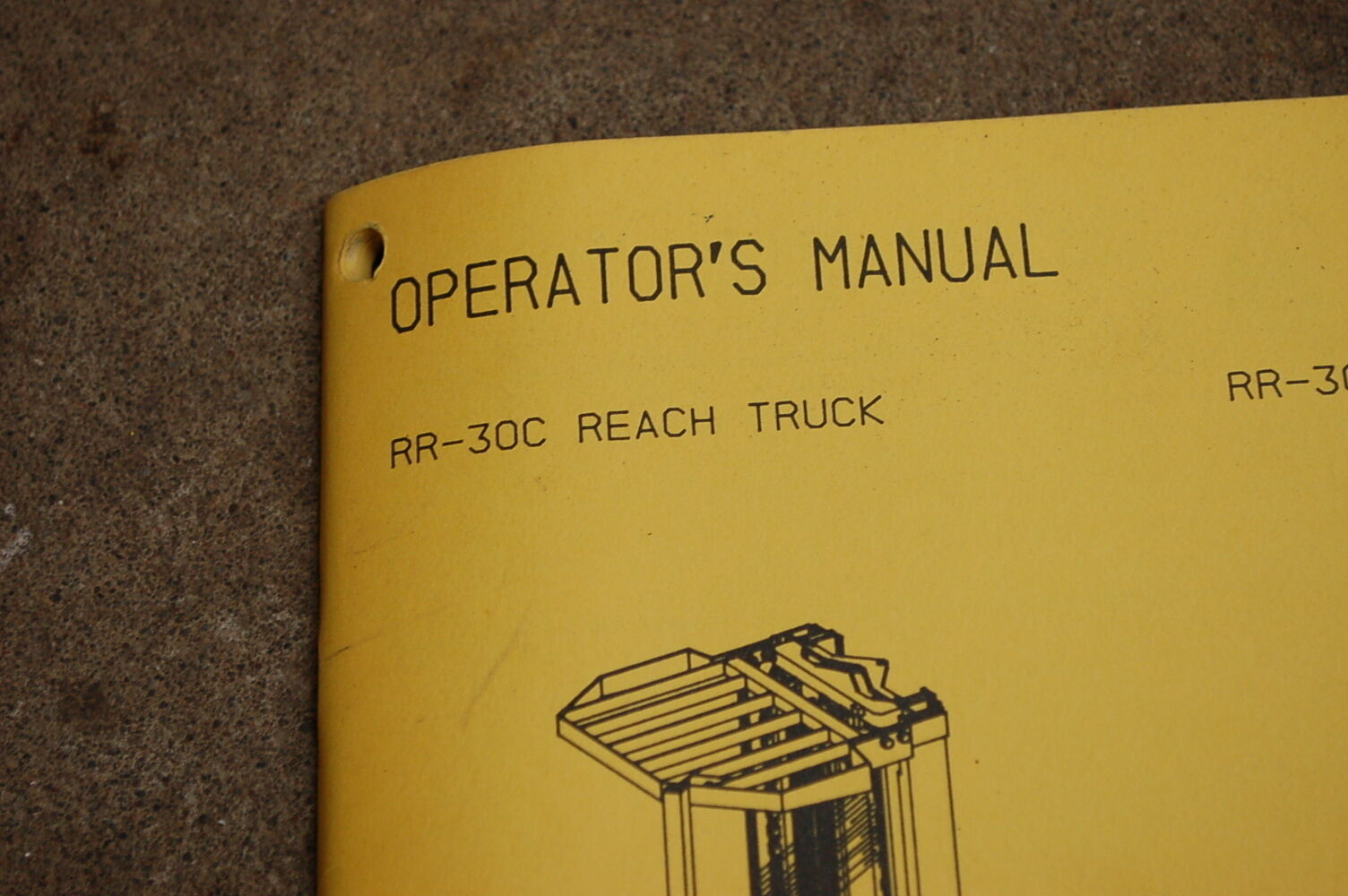 BT PRIME MOVER RR30C Reach Truck Electric Forklift Operator Manual owner  book | eBay